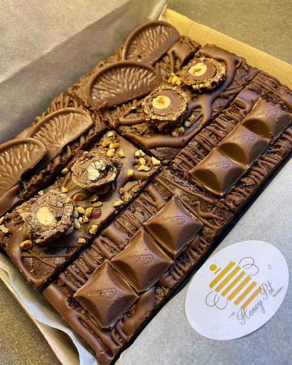 honeypot fudge brownie box